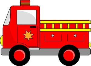 Clipart fire engine image freeuse Fire Engine Clipart Image: Cartoon Firetruck | Creating Printables ... image freeuse