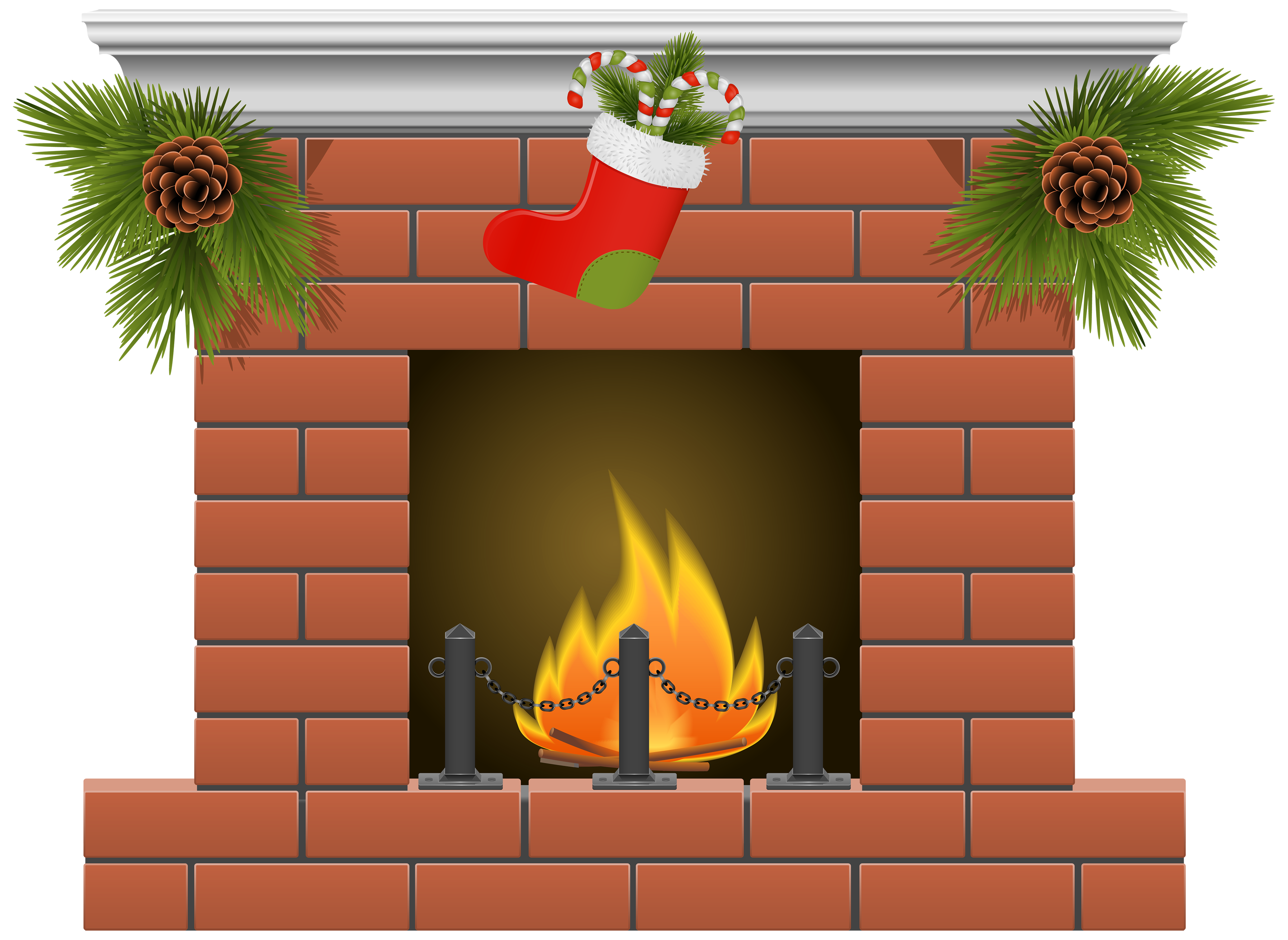 Clipart fire place jpg library download Christmas Fireplace PNG Clipart - Best WEB Clipart jpg library download