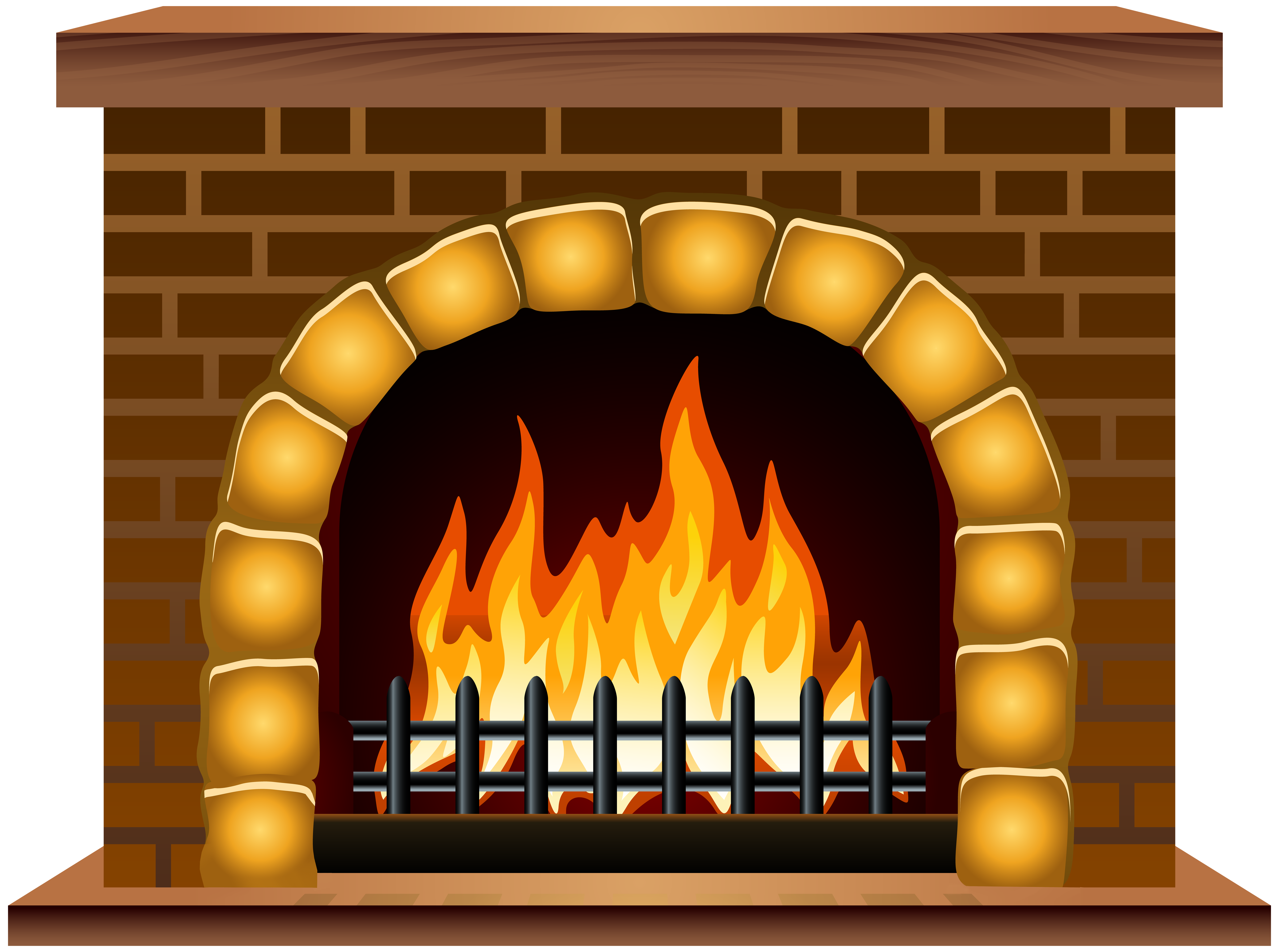Clipart fire place graphic free download Fireplace PNG Clip Art Image | Gallery Yopriceville - High-Quality ... graphic free download