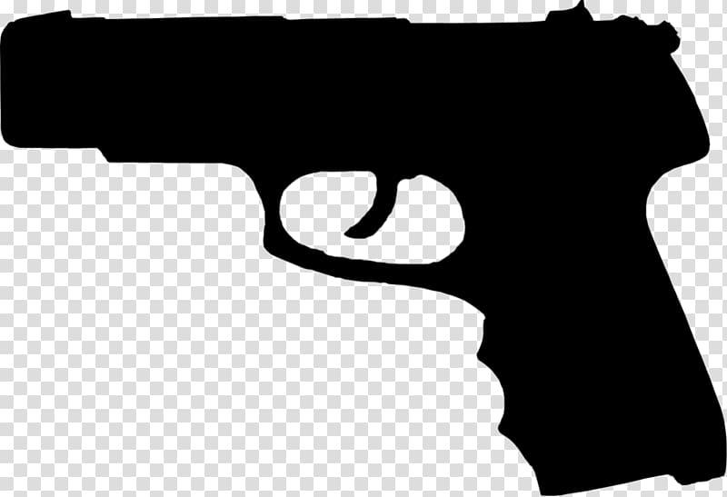 Clipart firearms vector free download Firearm Pistol Handgun Silhouette, Handgun transparent background ... vector free download