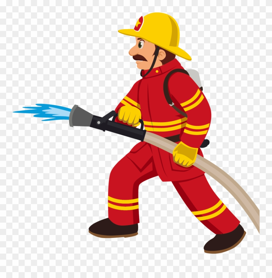 Clipart firman graphic library Cartoon Fireman - Fire Fighter Clipart Png Transparent Png (#892701 ... graphic library