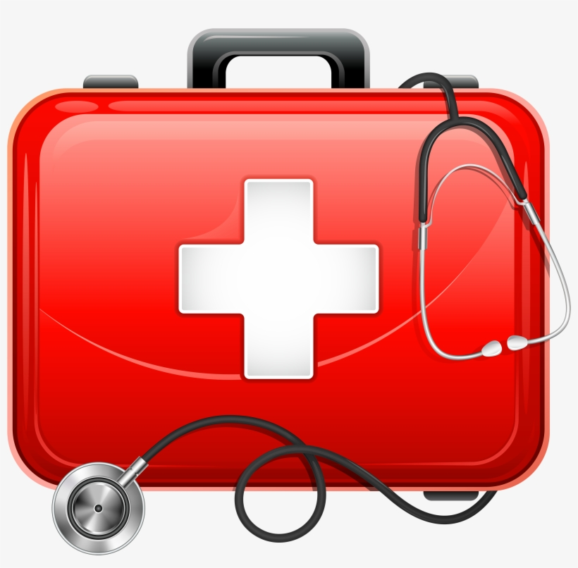 Clipart first aid kit png free stock Medical Bag And Stethoscope Png Clipart - Medical Kit First Aid Kit ... png free stock