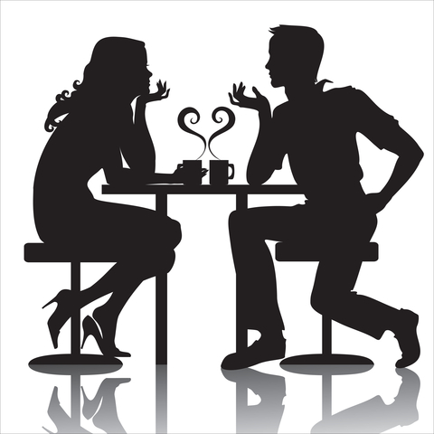 Clipart first date image black and white download First Date Tips: Are Your Initial Connections Superficial or Deep ... image black and white download
