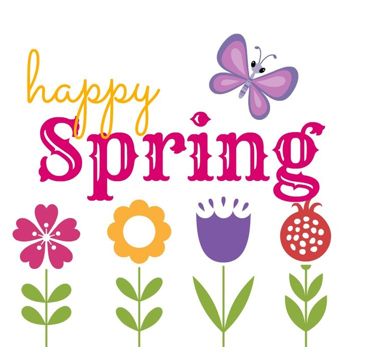 Welcome spring clipart vector black and white library Happy Spring Cliparts - Cliparts Zone vector black and white library