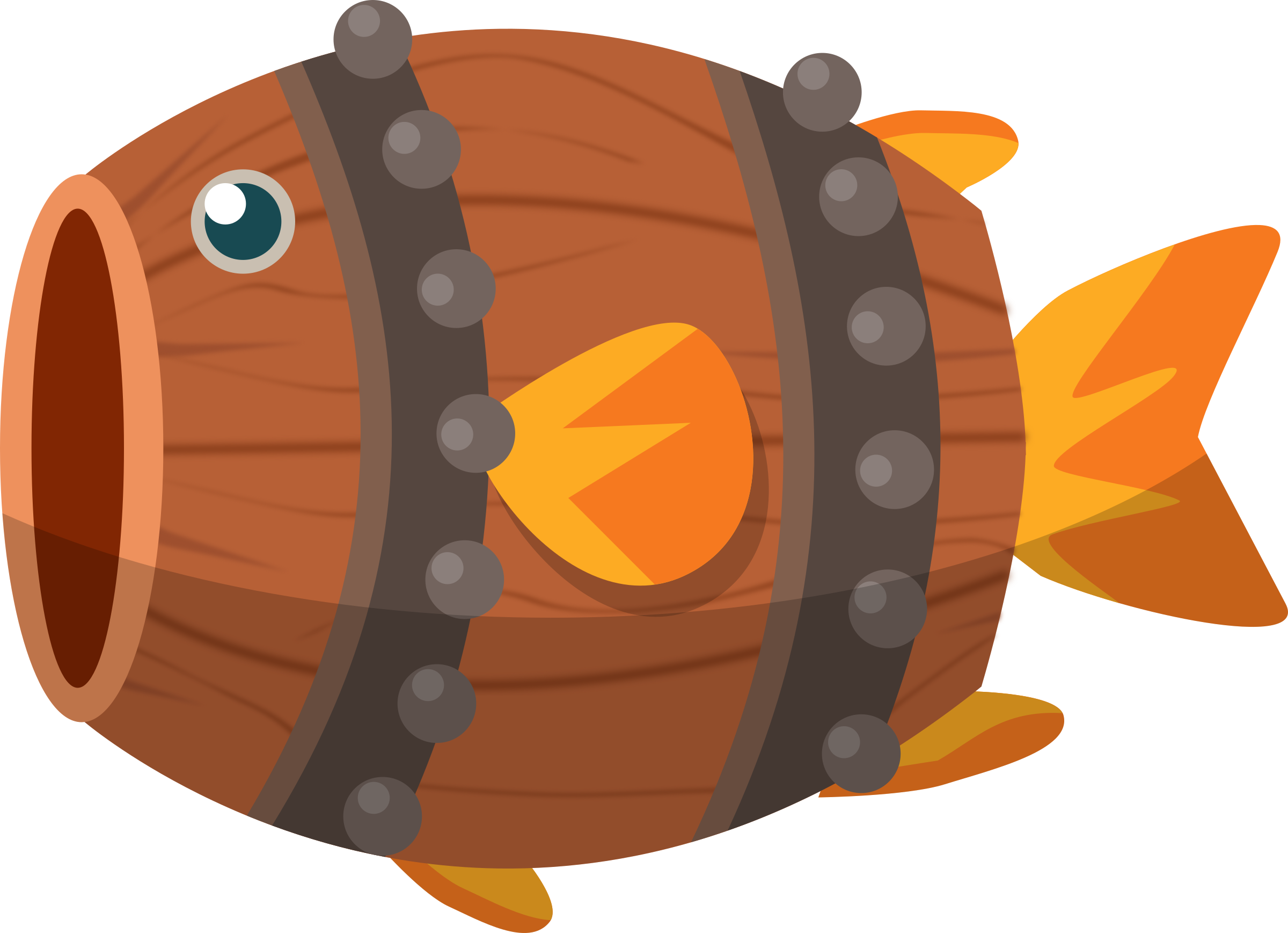 Clipart fish graphic transparent download Clipart - Barrel Fish graphic transparent download