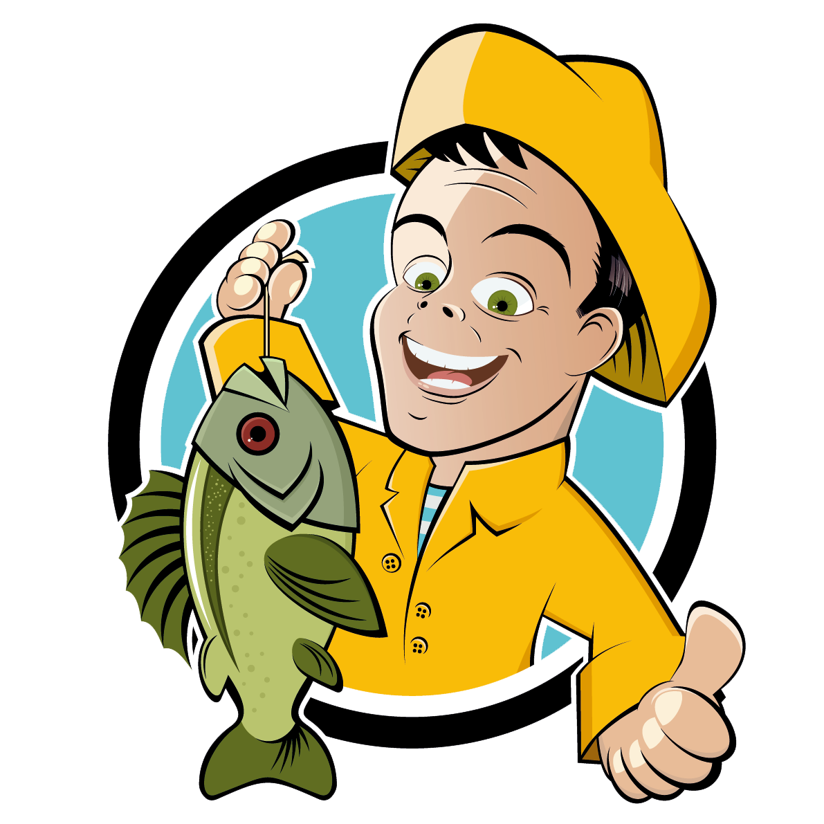 Clipart fish and fishermen clip stock Fishing Cartoon Fisherman Clip art - Fisherman with fish 1191*1191 ... clip stock