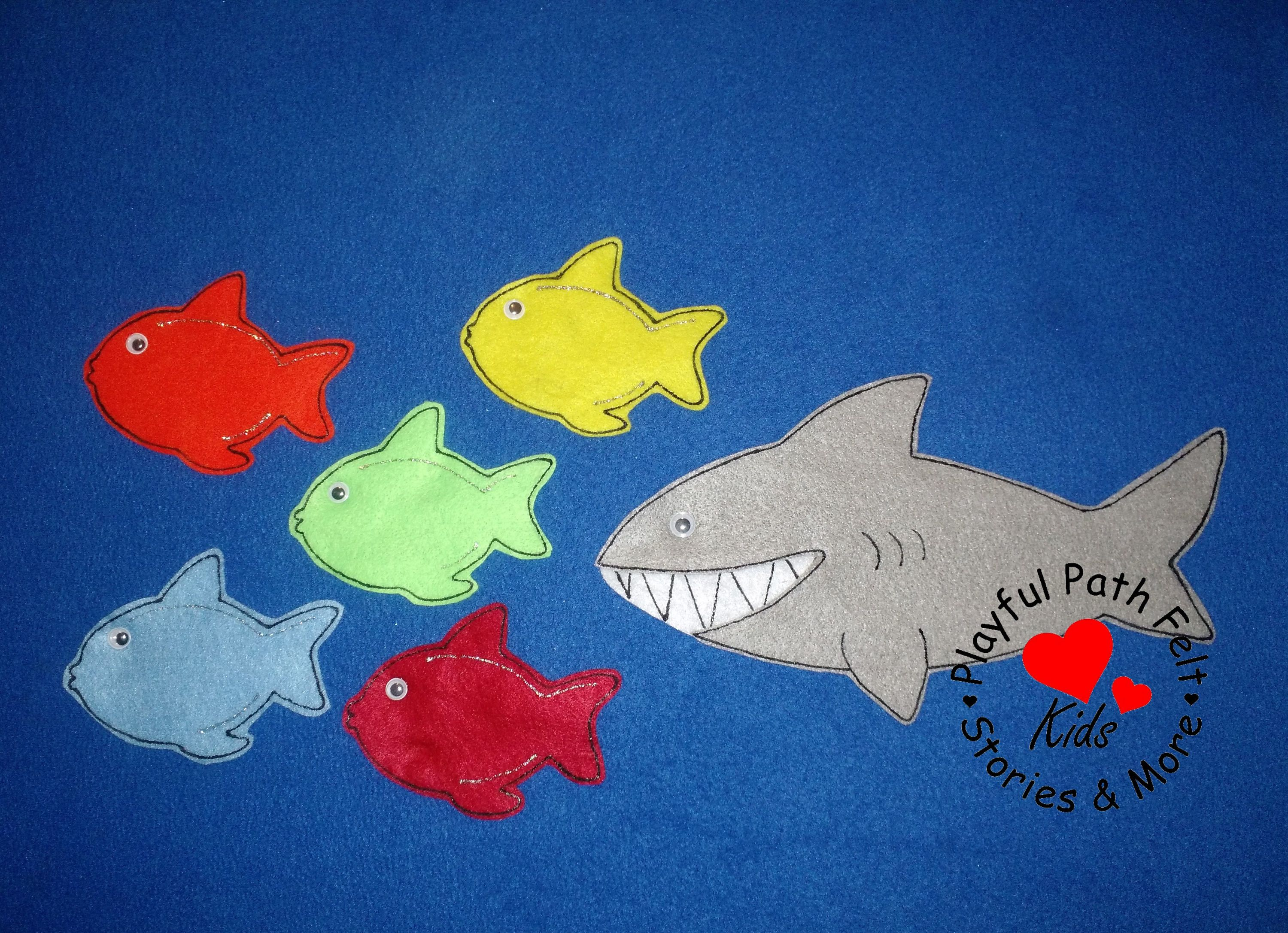 Clipart fish black and white flannel 5 little fishies image transparent stock Five cranky crabs felt story ece preschool circle time felt story ... image transparent stock