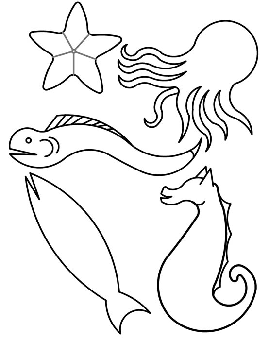 Clipart fish black and white flannel 5 little fishies picture royalty free Texas Reading Club | Color Your World...Read! | Texas State Library ... picture royalty free