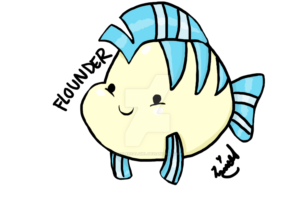 Flounder fish clipart picture library library Flounder Drawing at GetDrawings.com | Free for personal use Flounder ... picture library library