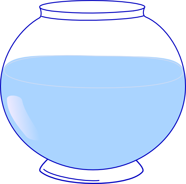 Clipart of a fish bowl image royalty free library Fish Bowl Clip Art at Clker.com - vector clip art online, royalty ... image royalty free library