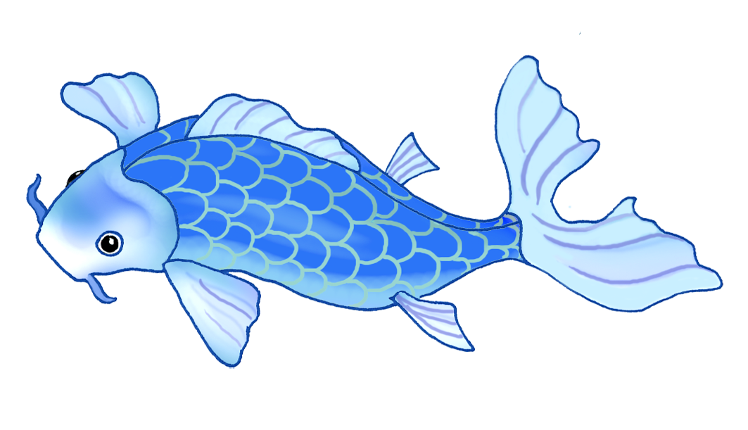 Clipart fish drawing graphic freeuse download Colorful Koi Fish Drawings graphic freeuse download