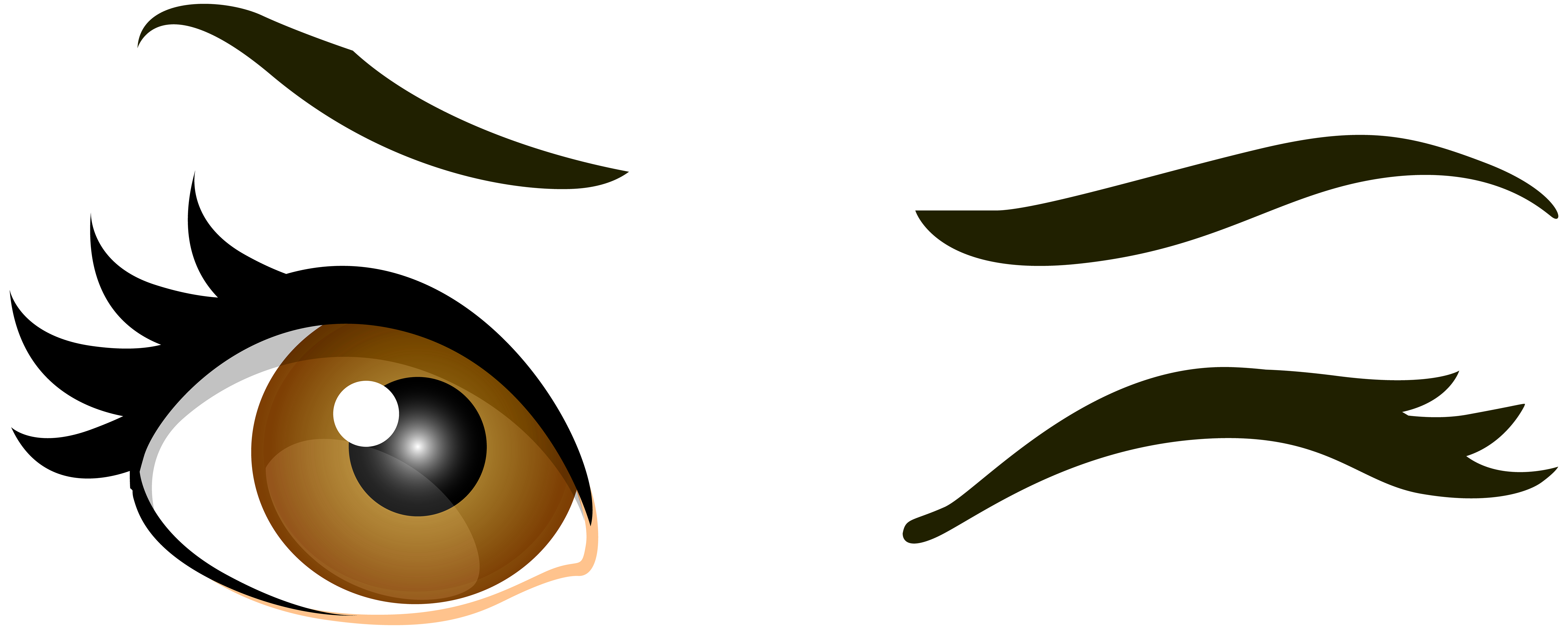 Cool sun blinking eye clipart picture freeuse library Brown Winking Eyes PNG Clip Art - Best WEB Clipart picture freeuse library