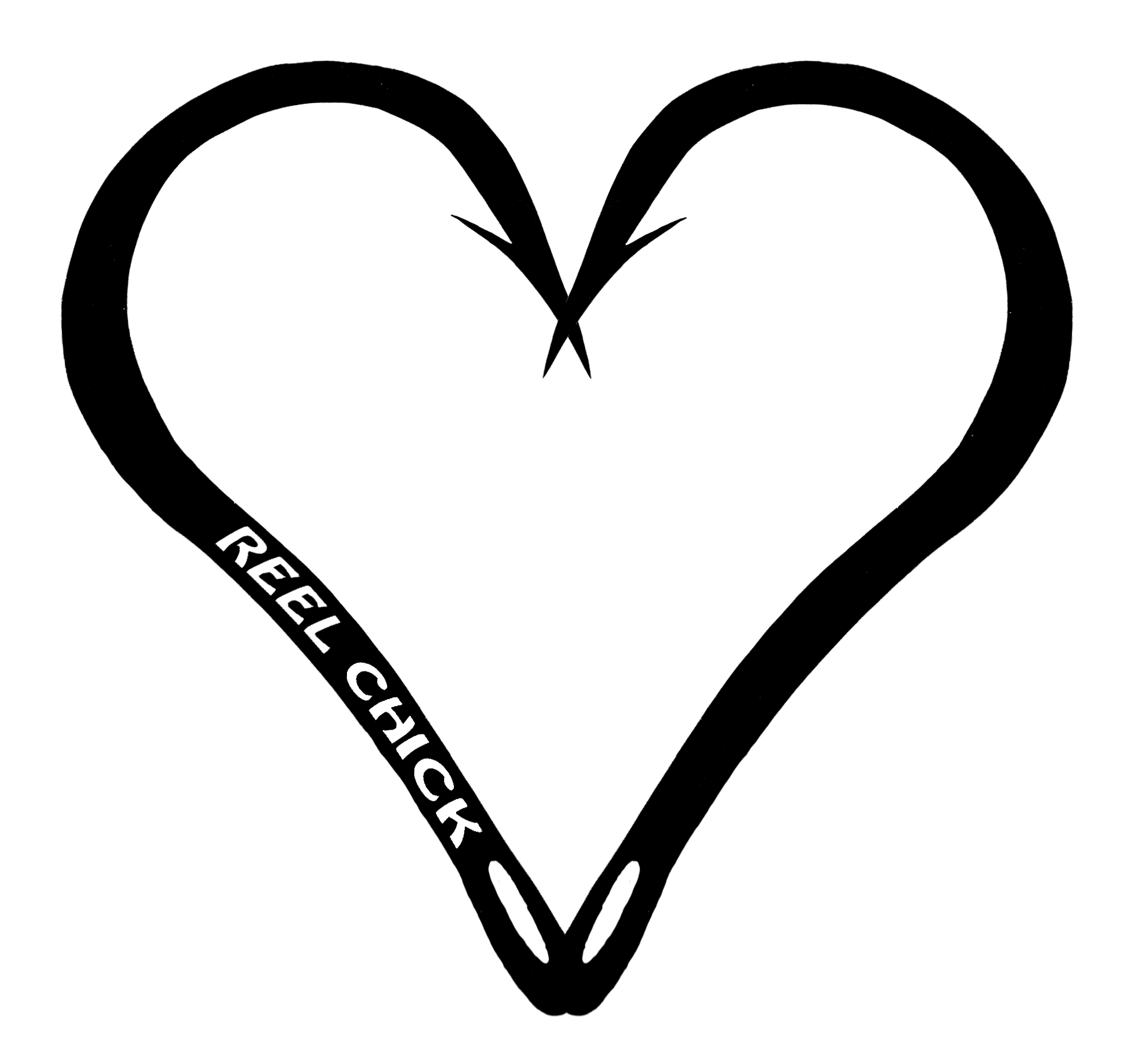 Heart shape basketball clipart black and white png royalty free stock Heart Shaped Fishing Hook - Heart Hook Fishing Decal Sticker ... png royalty free stock