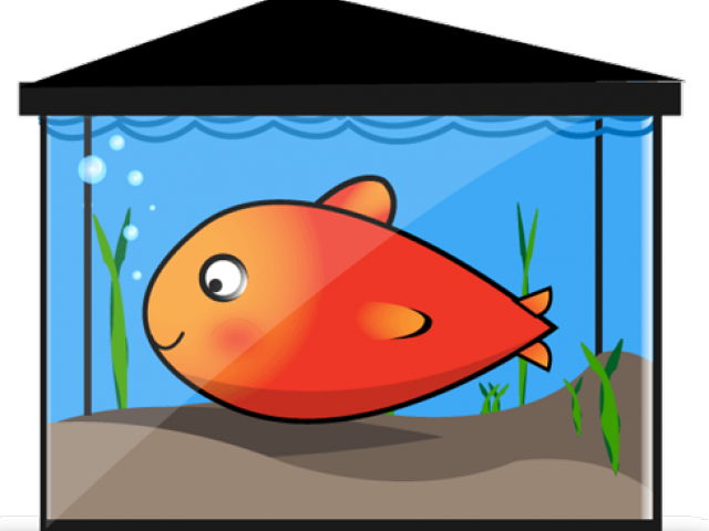 Fish tank castle clipart. Aquarium goldfish bowl free