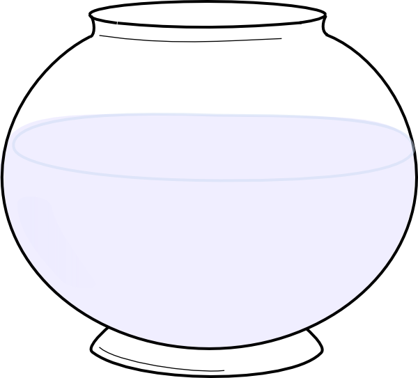 Clipart of a fish bowl jpg royalty free library Glass Bowl Clip Art at Clker.com - vector clip art online, royalty ... jpg royalty free library