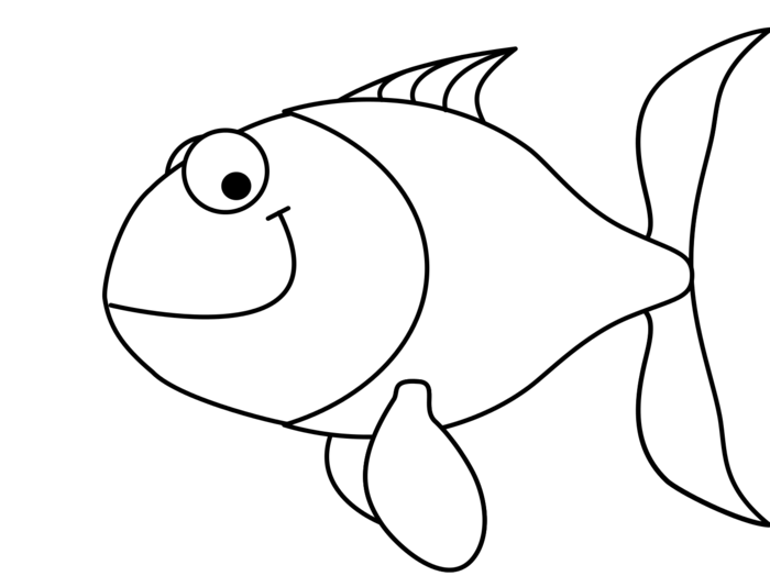Free fish outline clipart clip art black and white download Fish Outline Clipart - BClipart clip art black and white download