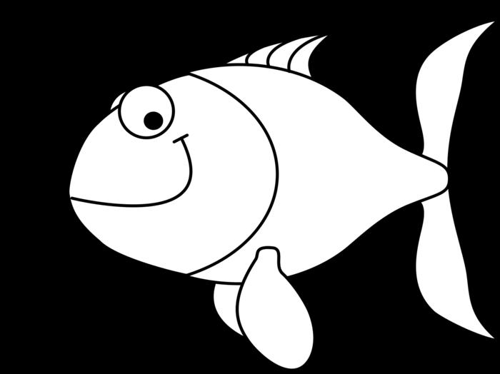 Fish outline clipart black and white jpg freeuse stock Fish Outline Clipart - BClipart jpg freeuse stock