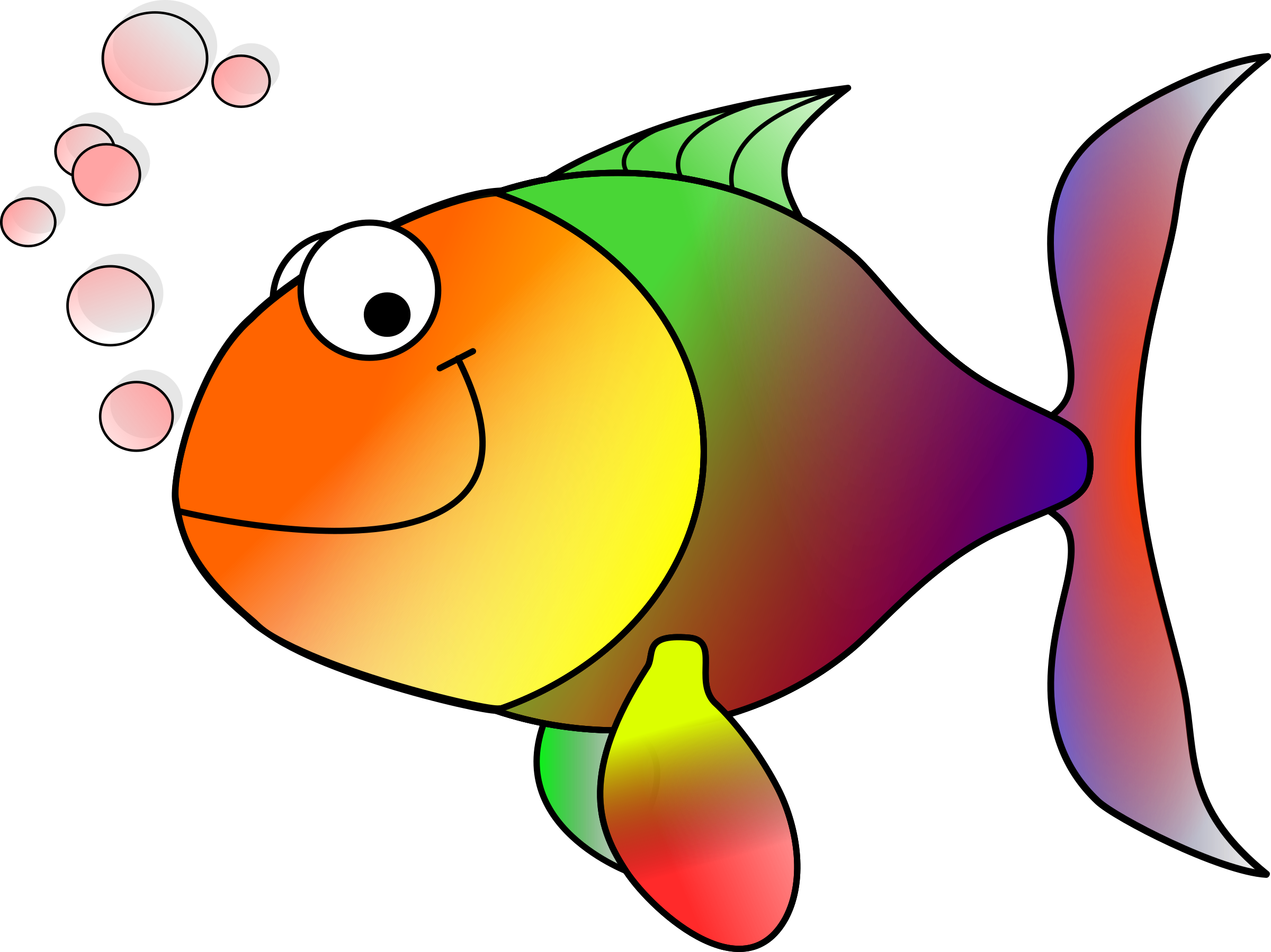 Clipart fish png clipart black and white download Clipart - Happy fish clipart black and white download