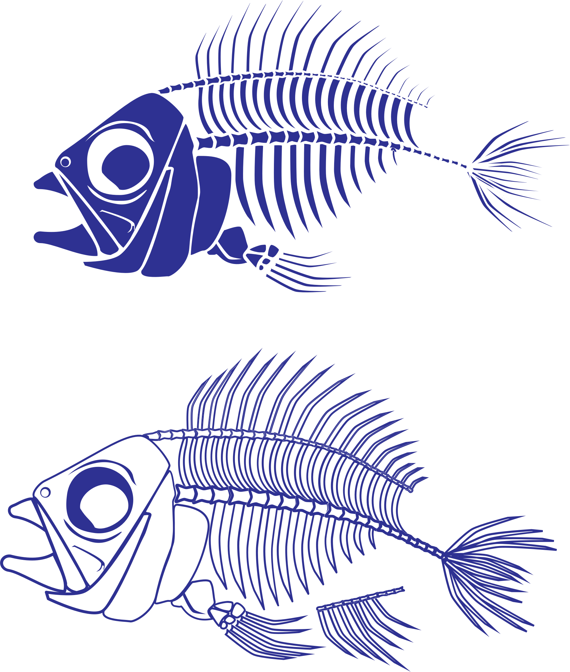 Fish sign clipart svg royalty free library Clipart - Fish Skeleton svg royalty free library