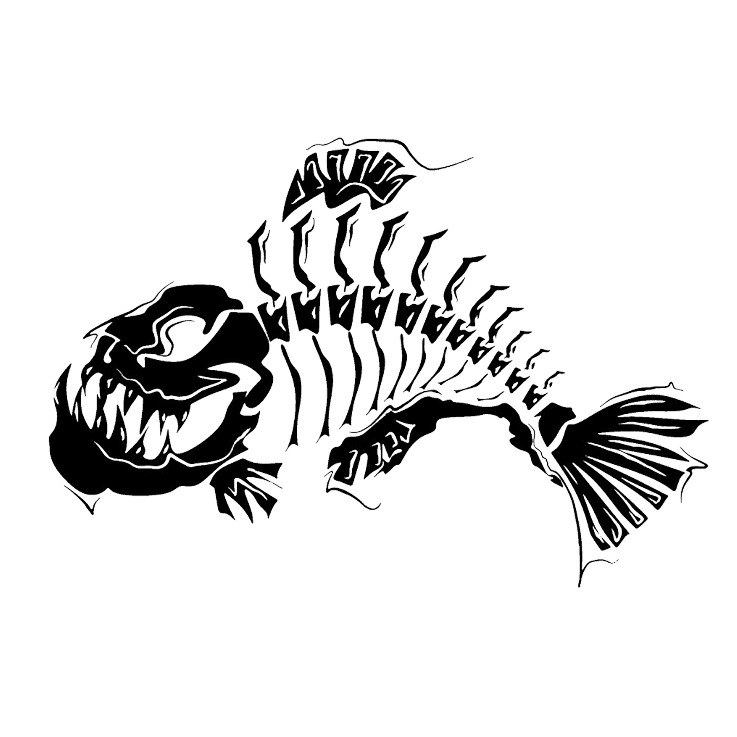 Fish skeleton clipart jpg library download Tattoo Skeleton Fish bone Clip art - fish bone 2362*2362 transprent ... jpg library download