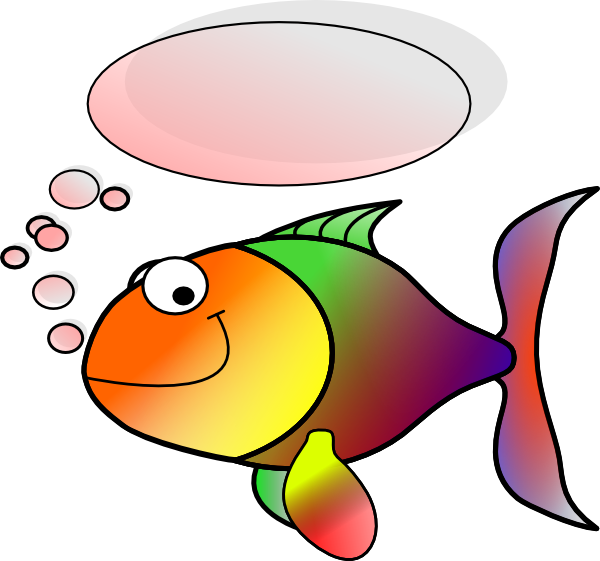 Clipart fish talking vector library stock Talking Fish Clip Art at Clker.com - vector clip art online, royalty ... vector library stock