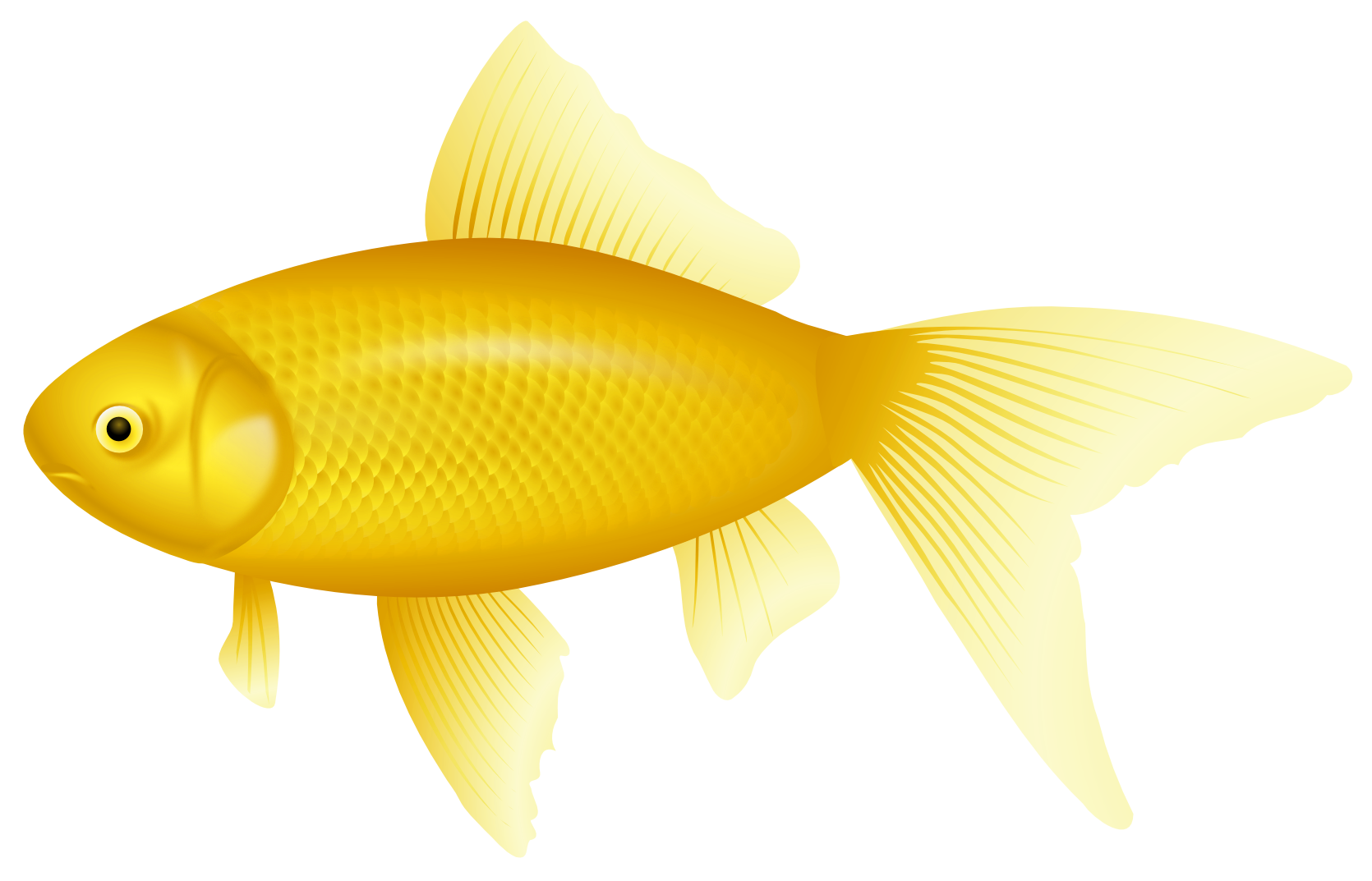 Flying fish clipart svg library library Yellow Fish PNG Clipart - Best WEB Clipart svg library library