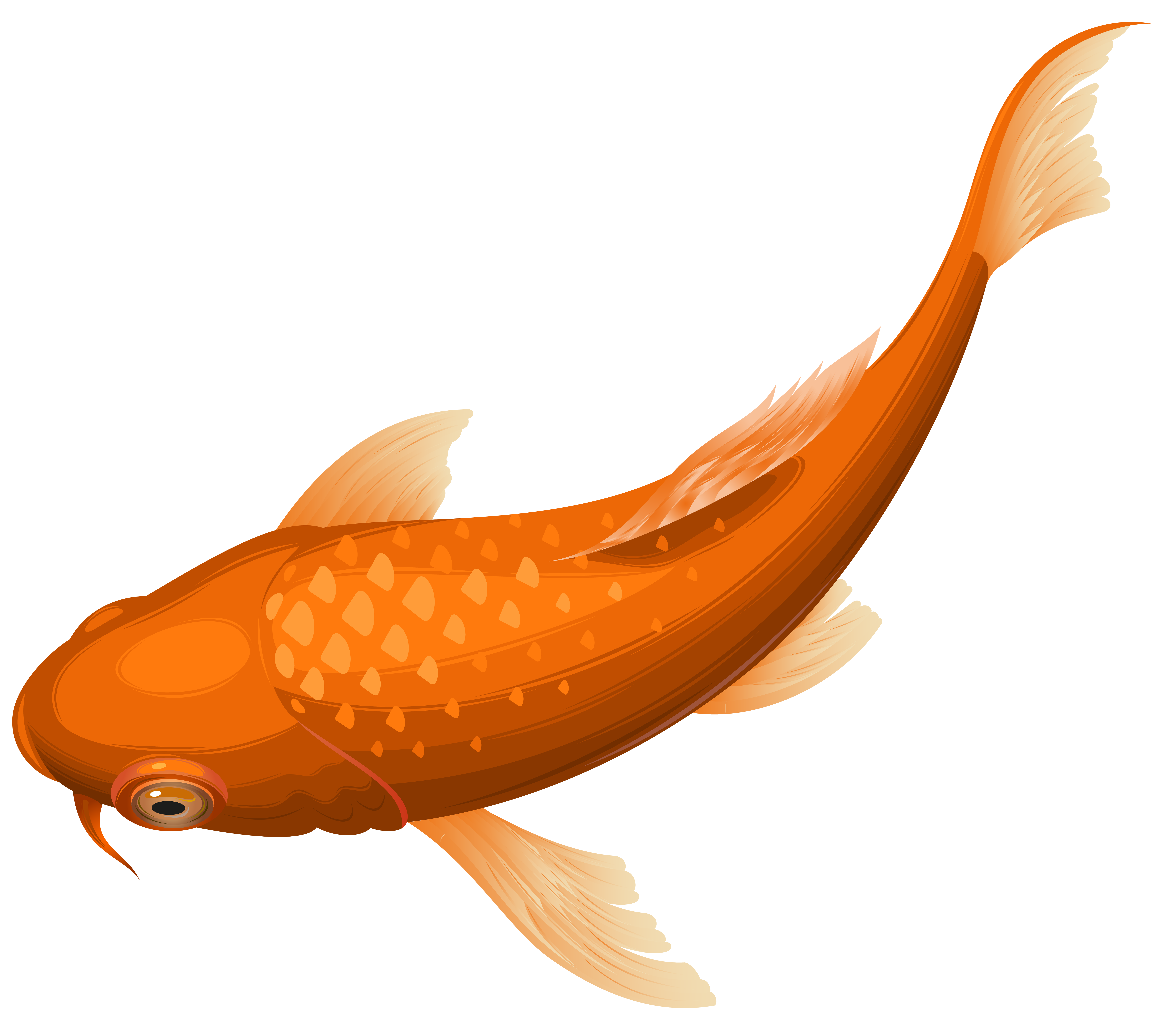 Clipart koi fish image transparent Orange Koi Fish Transparent Clip Art PNG Image | Gallery ... image transparent