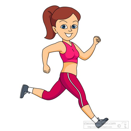 Clipart fit. Girl clipartfest running run