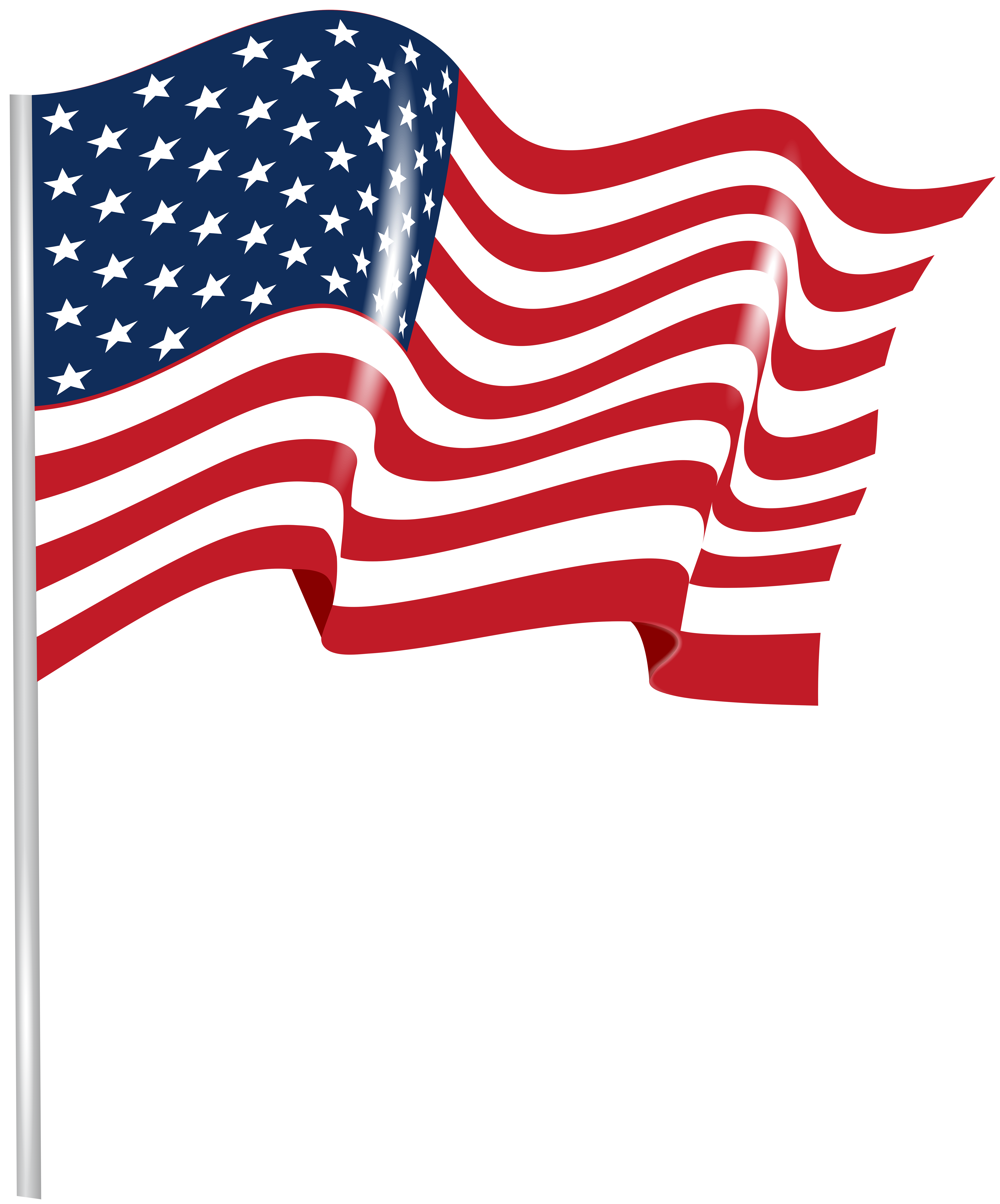 Clipart flag picture library stock US Waving Flag Transparent PNG Clip Art Image | Gallery ... picture library stock