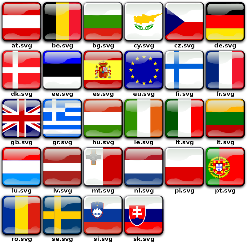 Free clipart flags of the world banner freeuse stock Free Clipart: Flags of Europe | koppi banner freeuse stock