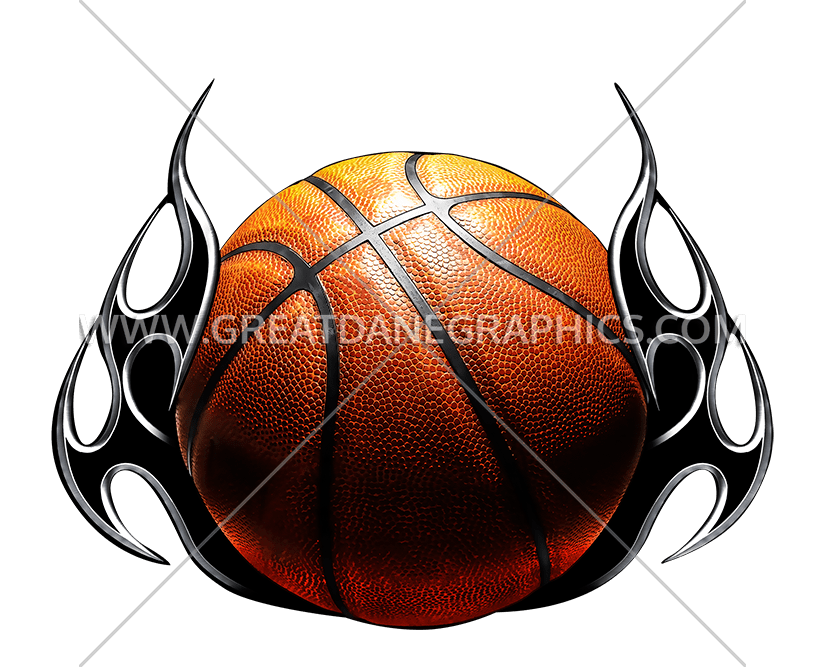 Clipart flames basketball clipart free download Basketball Tribal Flames | Production Ready Artwork for T-Shirt Printing clipart free download