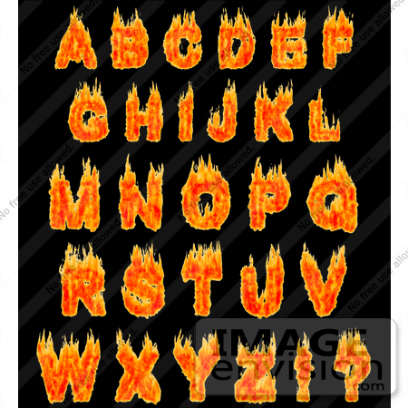 Clipart flaming letters clip art black and white stock Clipart flaming letters - ClipartFest clip art black and white stock