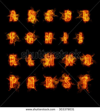 Clipart flaming letters vector transparent Flaming Letters Stock Photos, Royalty-Free Images & Vectors ... vector transparent