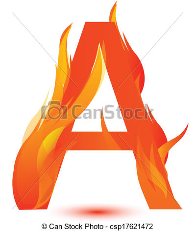 Clipart flaming letters vector stock Clipart flaming letters - ClipartFest vector stock