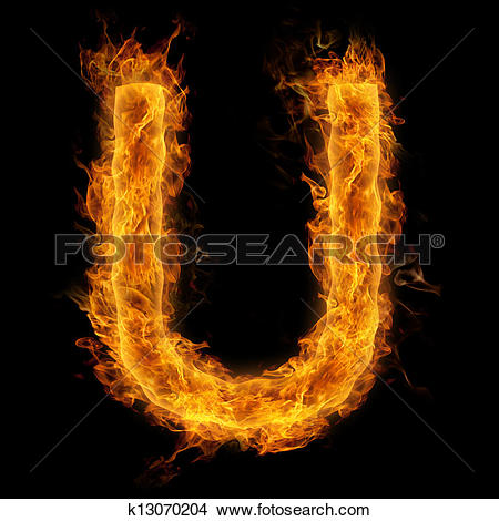Clipart flaming letters picture library library Drawings of Flaming Letter U k13070204 - Search Clip Art ... picture library library