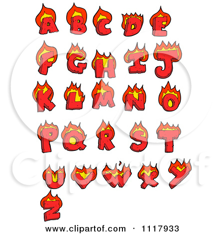 Clipart flaming letters graphic transparent download Clipart flaming letters - ClipartFest graphic transparent download
