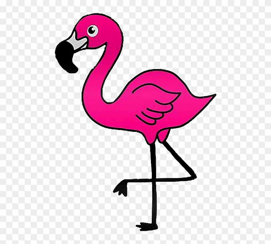 Clipart flamingo png black and white library Report Abuse - Flamingo Clip Art Transparent - Png Download (#867605 ... png black and white library
