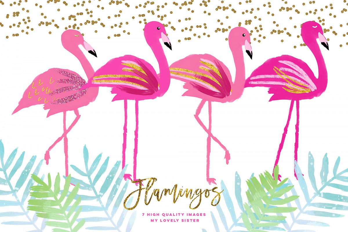 Clipart flamingo png free download Pink Flamingo clipart, scrapbooking cupcake toppers png free download