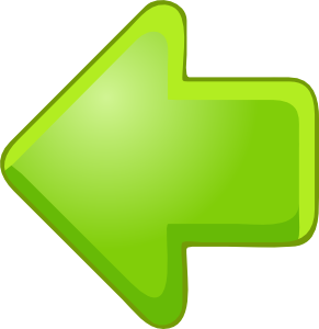Left green clip art. Clipart flashing arrow
