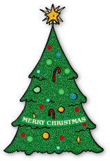 Clipart flashing christmas tree png black and white library Free Animated Christmas Trees - Christmas Tree Clipart png black and white library