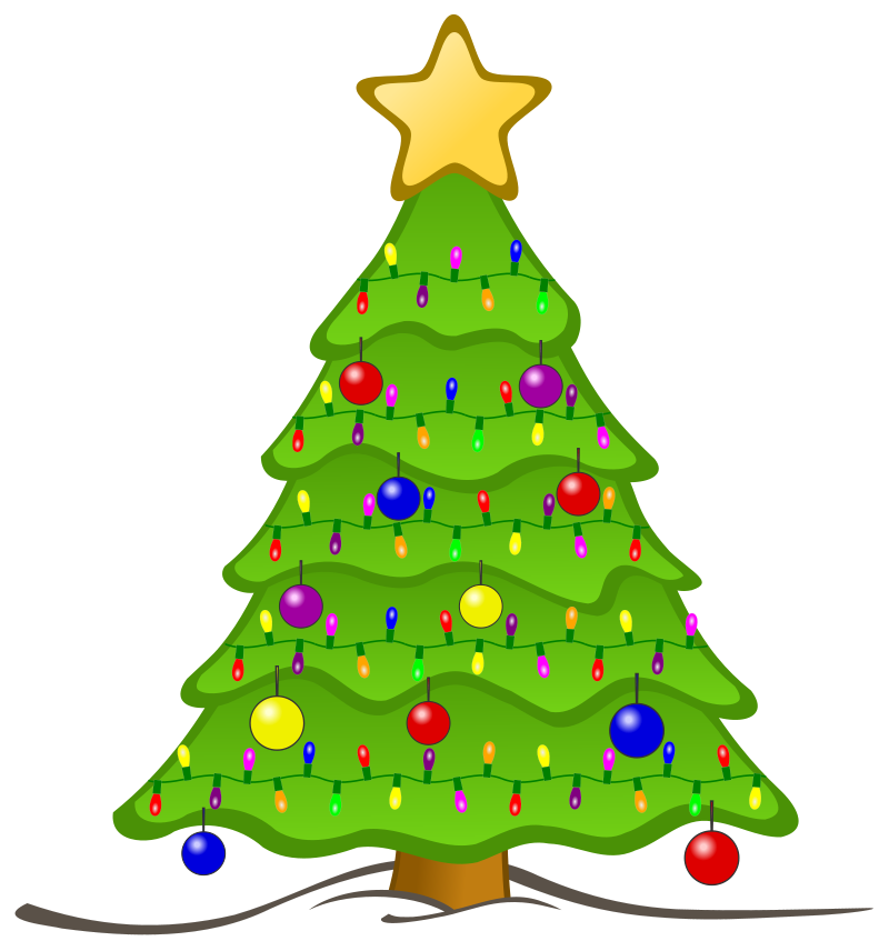 Silver christmas tree clipart png royalty free download Clipart flashing christmas tree - ClipartFest png royalty free download