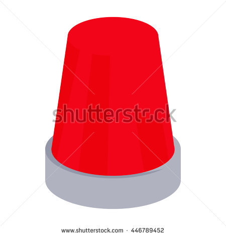 Clipart flashing lights black and white download Red Flashing Emergency Light Icon In Cartoon Style On A White ... black and white download