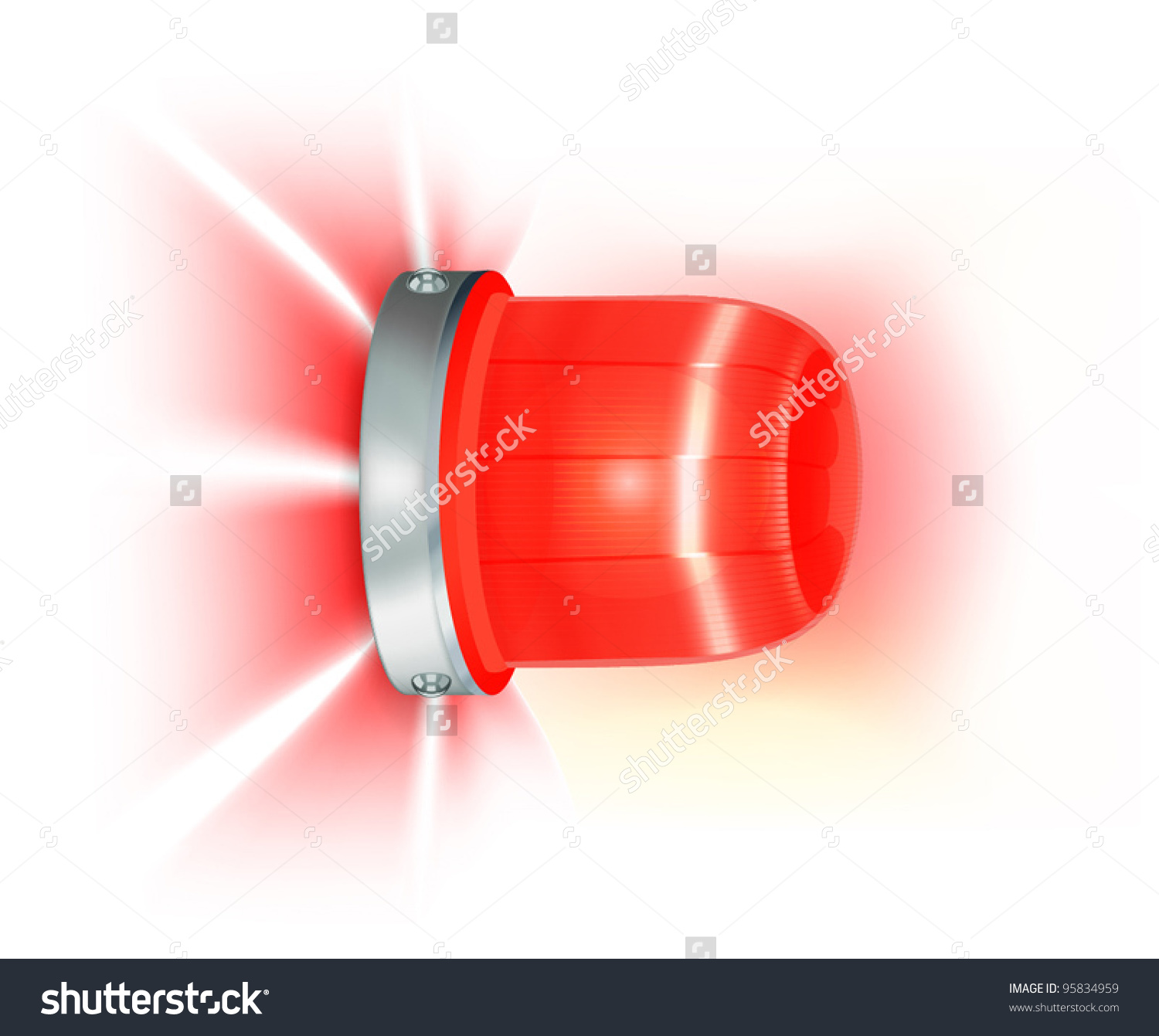 Clipart flashing lights vector library stock Red Flashing Light Stock Vector 95834959 - Shutterstock vector library stock
