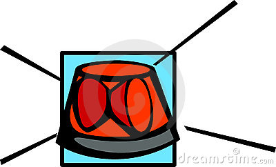 Clipart flashing lights svg stock Rotating Beacon - Red Royalty Free Stock Image - Image: 8317836 svg stock