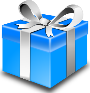 Clipart flashing present box vector download Present box clipart - ClipartFest vector download