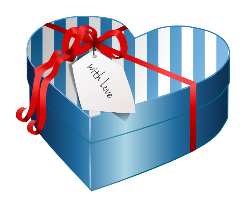 Heart box clipart black and white clip art free download Gift Box Clipart - Graphics of Beautifully Wrapped Presents clip art free download