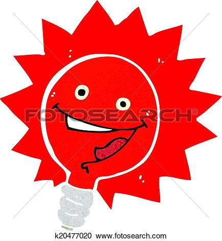 Clipart flashing red light png freeuse stock Clipart of happy flashing red light bulb cartoon k20477020 ... png freeuse stock