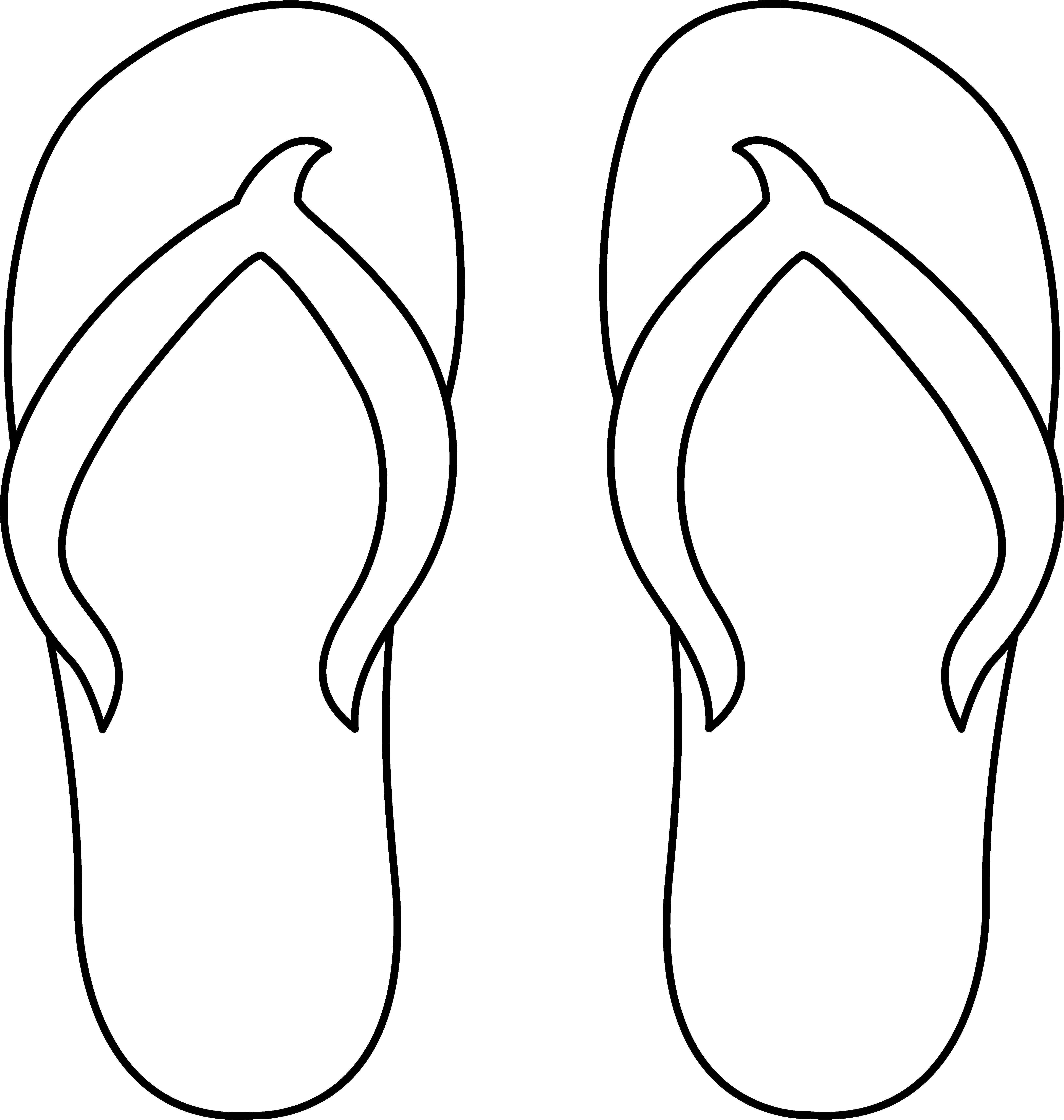 Clipart flip book svg free Colorable Flip Flops - for gr 5: one shoe for elem. school; the ... svg free