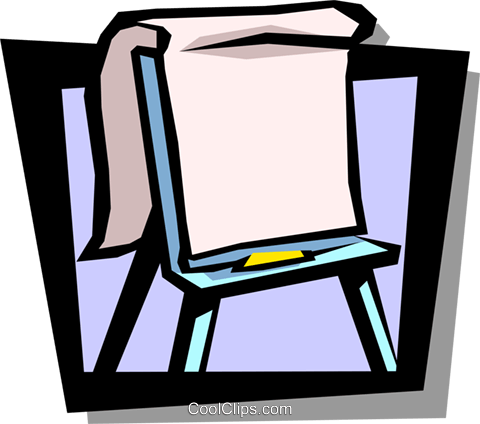 Clipart flipchart clip stock easel with flipchart Royalty Free Vector Clip Art illustration ... clip stock