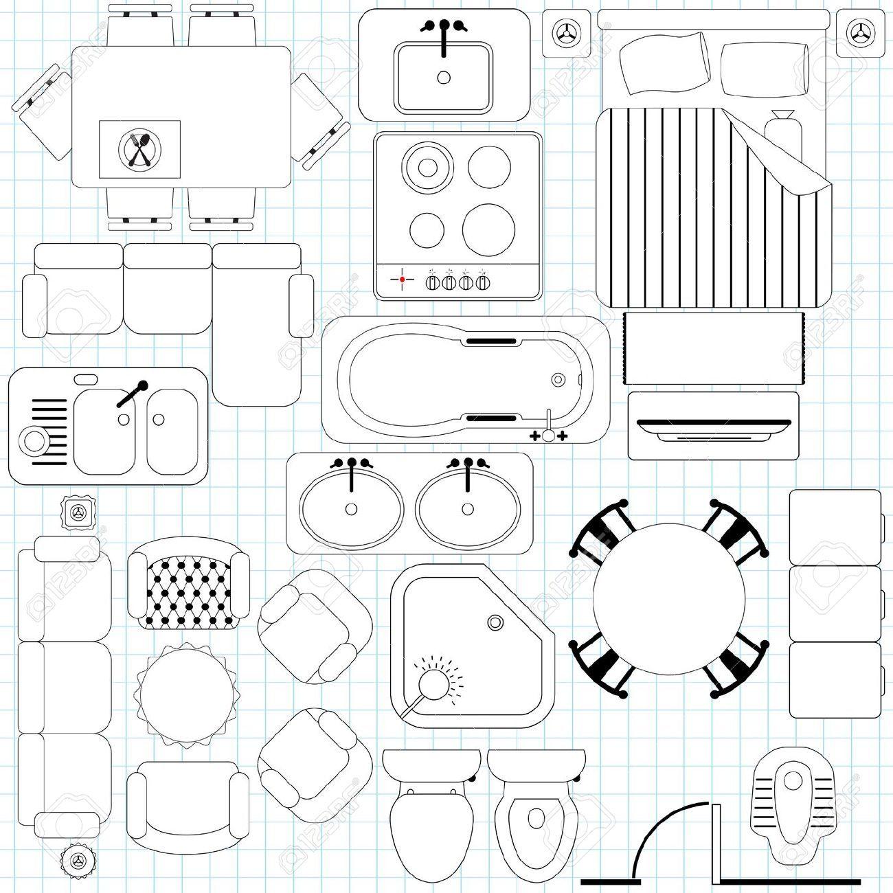 Clipart floorplan graphic black and white download Floor plan clipart 5 » Clipart Portal graphic black and white download